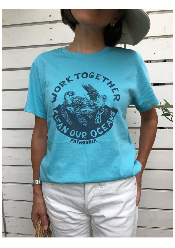 patagonia Women`s  Work Together Roc Pilot Cotton Tシャツ