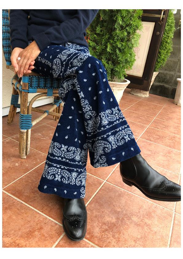 INES DE LA FRESSANGE Pantalon Charlotte veiours bandana