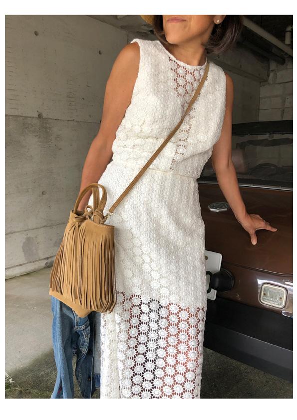 INES DE LA FRESSANGE  Dress Melody ivory